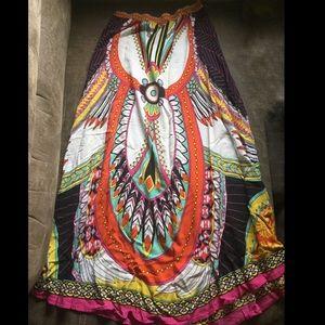 Dresses & Skirts - Colorful full length maxi skirt